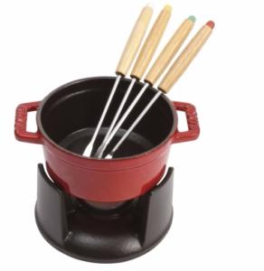 staub mini service a fondue en fonte 10 cm. Black Bedroom Furniture Sets. Home Design Ideas