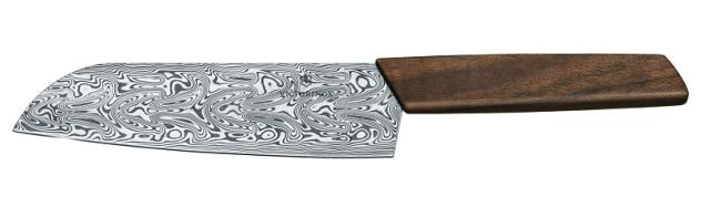 COUTEAU VICTORINOX SWISS MODERN SANTOKU DAMAS LIMITED ÉDITION 2020 NOYER