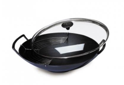 le creuset wok en fonte 36 cm. Black Bedroom Furniture Sets. Home Design Ideas