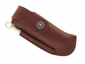 MAX CAPDEBARTHES - ETUI CUIR COUTEAU CHASSE 12 CM MARRON + FUSIL